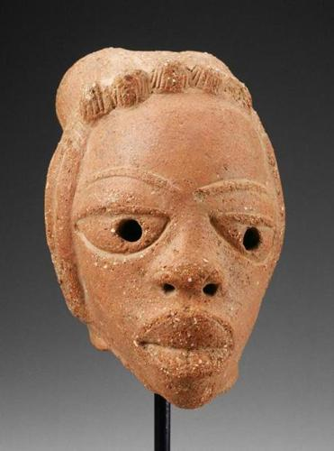 William and Bertha Teel's collection included this terra-cotta head from Nigeria dating to 500 B.C. to 200 A.D.